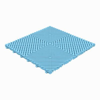 Klickfliese offene Rippenstruktur abgerundet hellblau