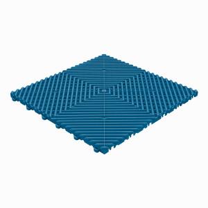 Klickfliese offene Rippenstruktur abgerundet blau