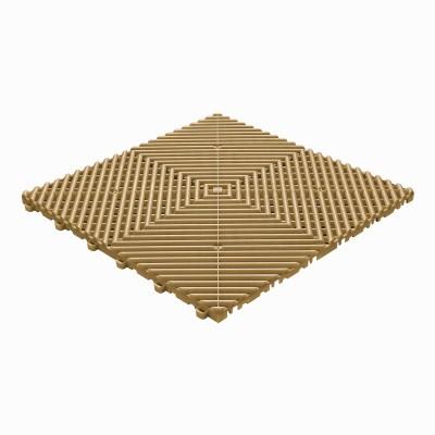 Klickfliese offene Rippenstruktur abgerundet goldfarbe
