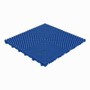 Klickfliese offene Rippenstruktur abgerundet reflexblau