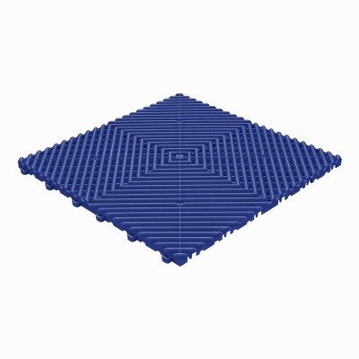 Klickfliese offene Rippenstruktur abgerundet ultramarin blau