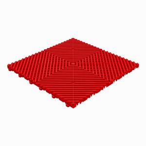 Klickfliese offene Rippenstruktur abgerundet rot