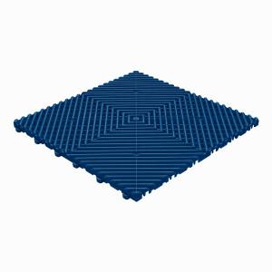 Klickfliese offene Rippenstruktur abgerundet dunkelblau