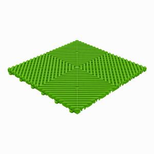 Klickfliese offene Rippenstruktur abgerundet gelb-grün