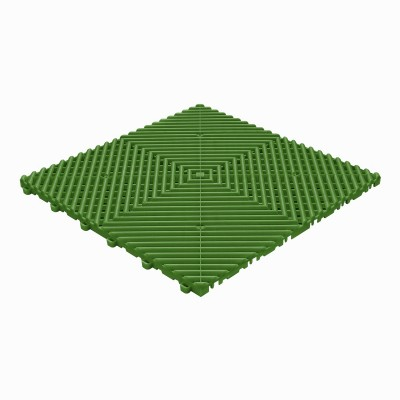 Klickfliese offene Rippenstruktur abgerundet grün