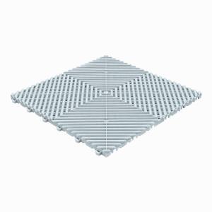 Klickfliese offene Rippenstruktur abgerundet silber