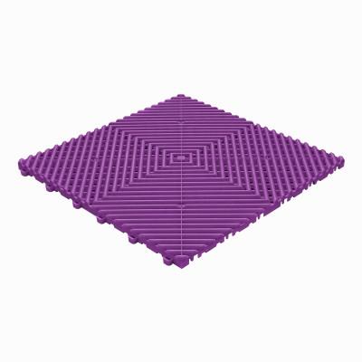 Klickfliese offene Rippenstruktur abgerundet violett