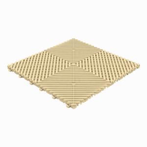 Klickfliese offene Rippenstruktur abgerundet beige