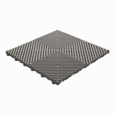 Klickfliese offene Rippenstruktur abgerundet grau-braun