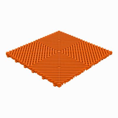 Klickfliese offene Rippenstruktur abgerundet orange