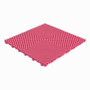 Klickfliese offene Rippenstruktur abgerundet pink