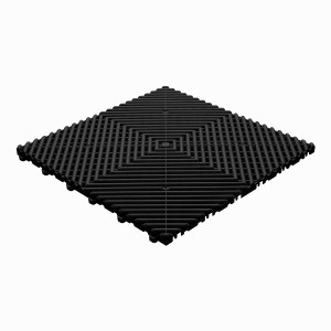 Klickfliese offene Rippenstruktur abgerundet schwarz