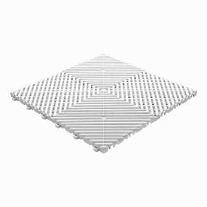 Klickfliese offene Rippenstruktur abgerundet weiß