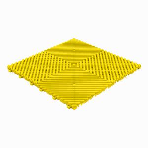 Klickfliese offene Rippenstruktur abgerundet gelb