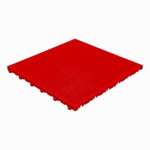 Klickfliese Lederoptik rot